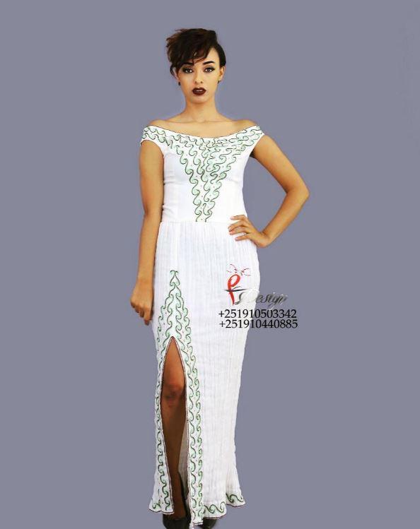 Yordis Habesha Dress Model Black Best Of