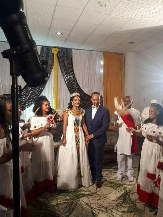 Artist Meseret Mebrate wedding