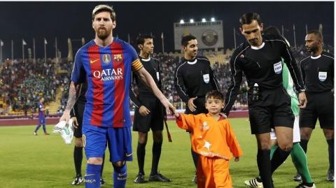 Lionel Messi  Afghan refugee Murtaza Ahmadi