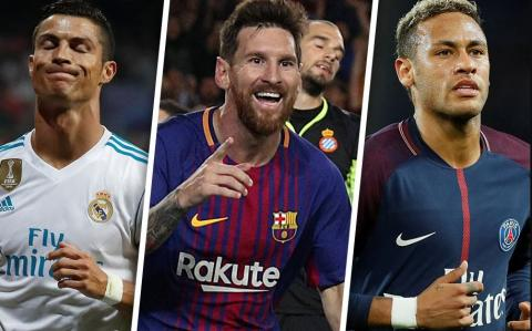 Ronaldo, Messi and Neymar up for 2017 Best FIFA Men's Player, 2017