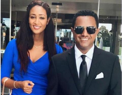 warm welcoming ceremony for Teddy Afro and his wife
