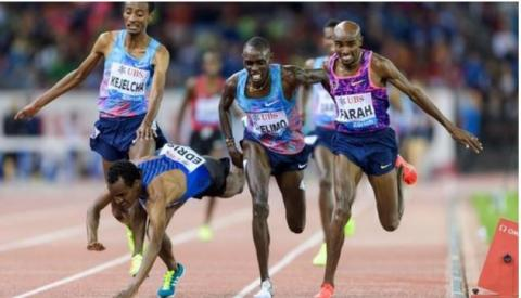 Mo Farah wins his final track race in Zurich Diamond League