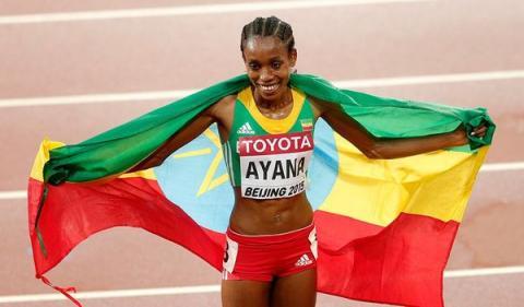 Almaz Ayana Won 10000 Women's Run