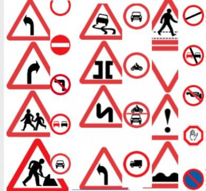 Road Signs And Traffic Symbols For Ethiopian Road Part 1