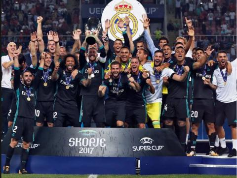 UEFA Super Cup - Real Madrid beat Manchester United 2-1