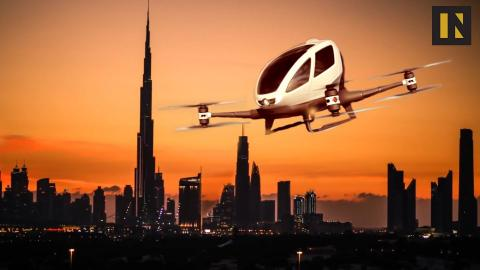 Unmanned drone taxi is being tested in Dubai