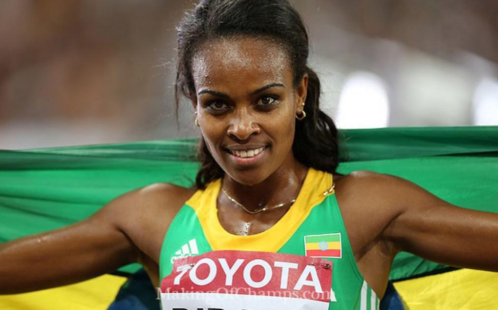 Genzebe Dibaba and her team in Birmingham, U.K. - amazing race