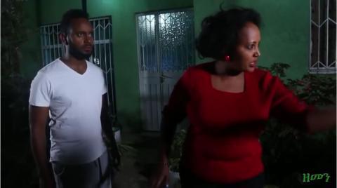 zemen drama scene showing Adanech disrespecting Nafkot's father