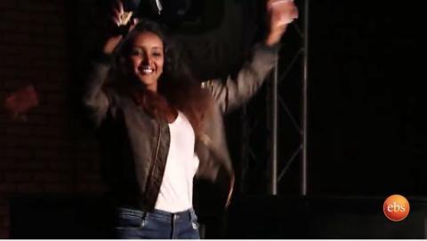 Feryat Yemane dancing on Feta show