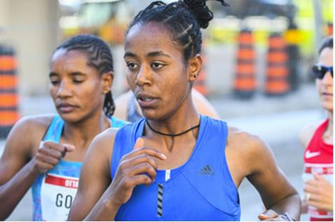 Netsanet Gudeta and Leul Gebresilase won the Ottawa 10,000 M race