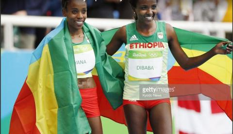 Almaz Ayana and Tirunesh Dibaba won women's 10,000 M race - IAAF 2017
