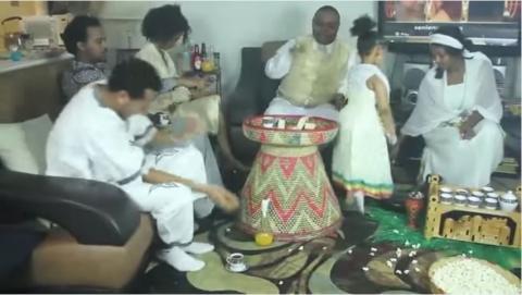 Ethiopian In USA Celebrating Gena Holiday