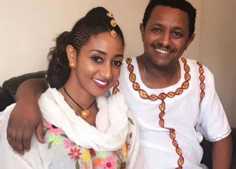 Teddy Afro's and Amleset Muchie's photo for Ethiopian new year