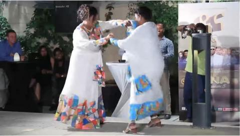 Fikirte Gethahun's and Welela Asefa's amazing dance on Dana drama