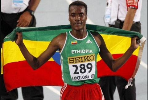 Muktar Edris won 5000m men's IAAF World Championships - London