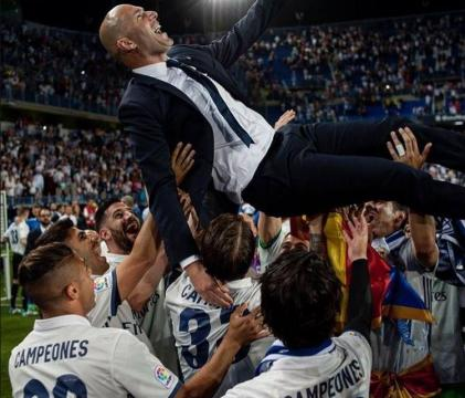 Real Madrid crowned La Liga Champions