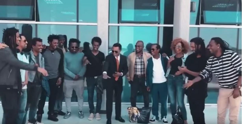Teddy Afro arrives in Bahir Dar