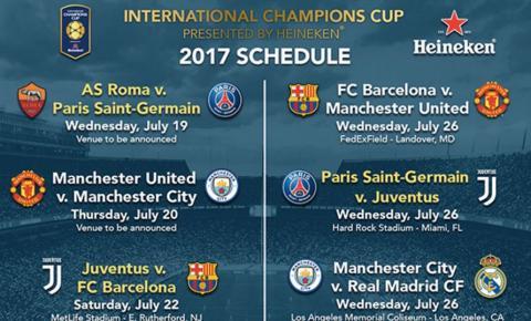 International champions cup 2017 schedule