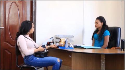 Welafen drama scene a lady taking advantage on her employees