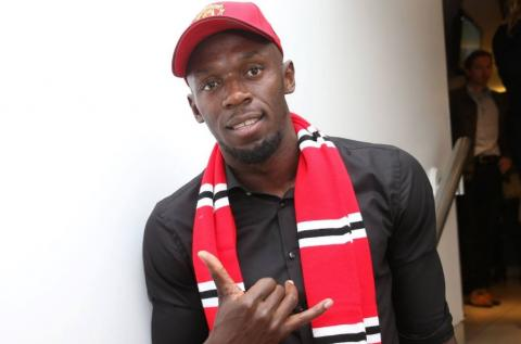 Usain Bolt talked about Manchester United club