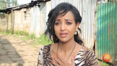 Bekenat Mekakel drama scene showing heart broken lady