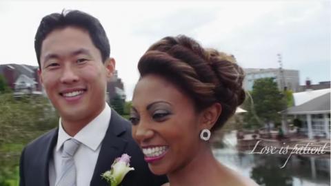 Ethiopian woman and South Korean man wedding