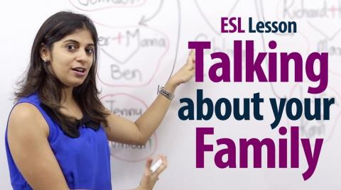 How to talk about your family - English Lesson