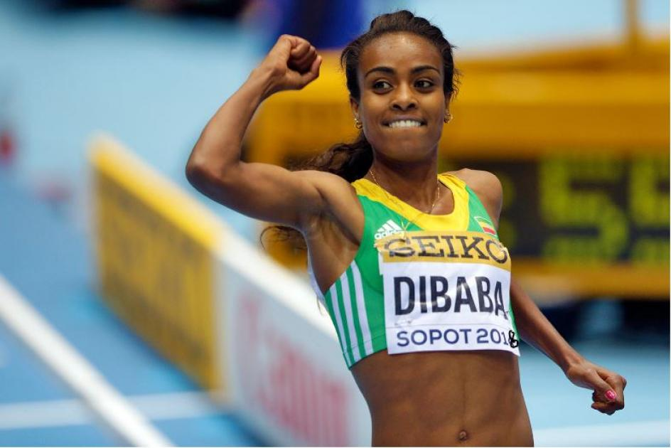 Genzebe Dibaba won her third consecutive 3000-meter world title at the 2018 World Indoor Championshi