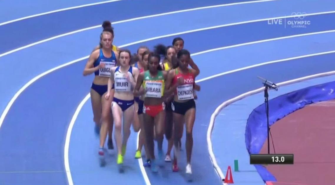 Genzebe Dibaba competes in another amazing 1500 meter run in Birmingham, UK
