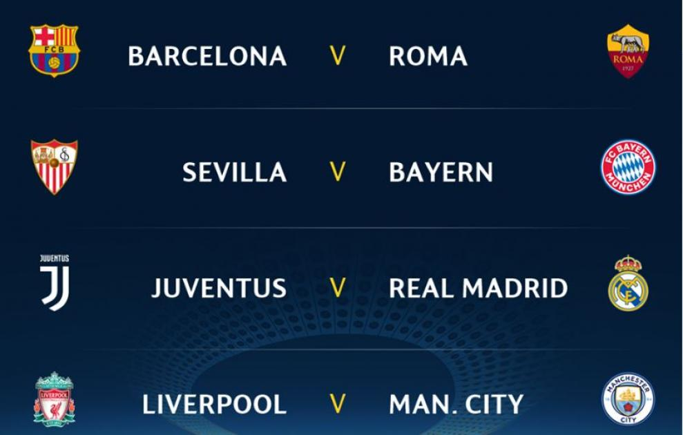 Result Of The  UCL Draw - 2017/2018