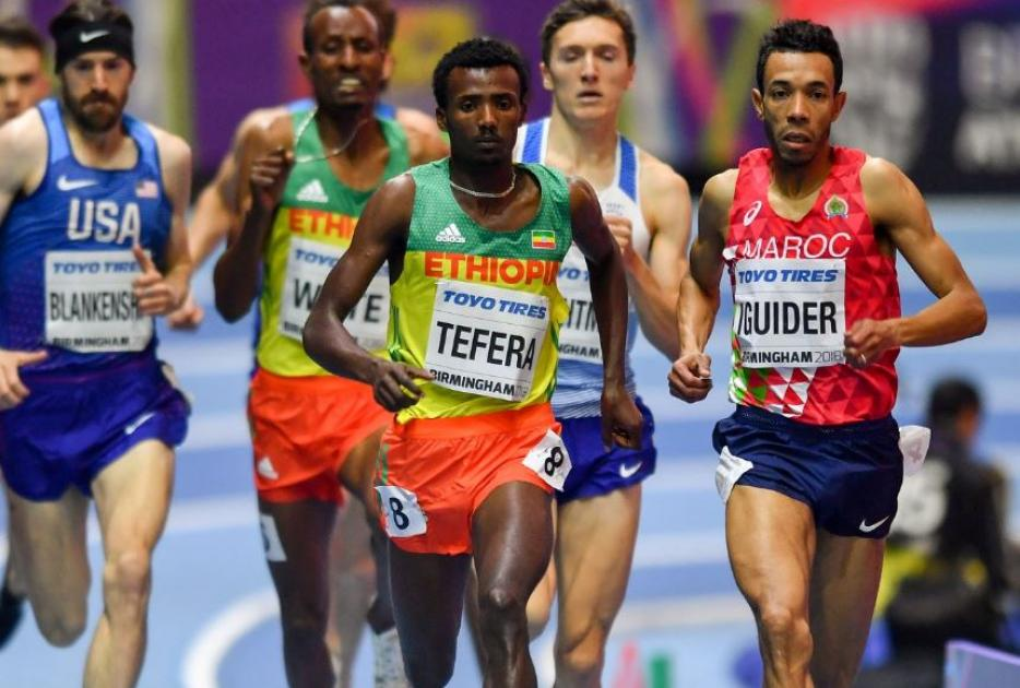 Samuel Tefera Takes Control Of The 1500m In Birmingham