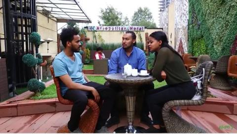 Abush, Kalid and Kaki's scene on Zemen drama