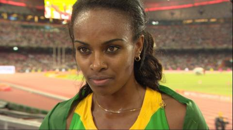 Genzebe Dibaba speak about her performance in London