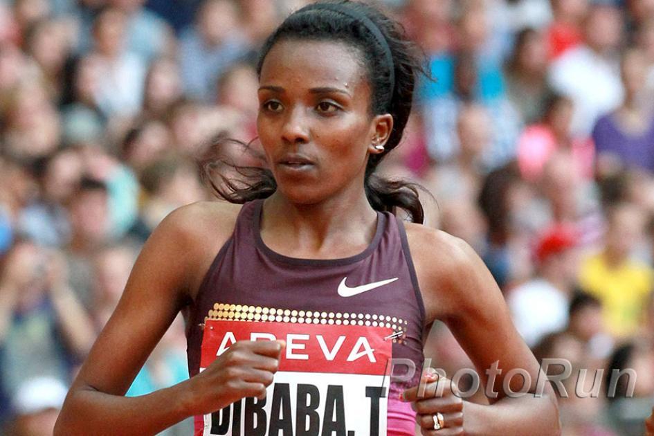 Tirunesh Dibaba and Feyisa Lelisa run on Chicago Marathon