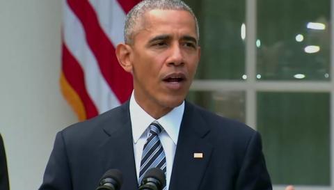 President Obama speaks about Donald J. Trump