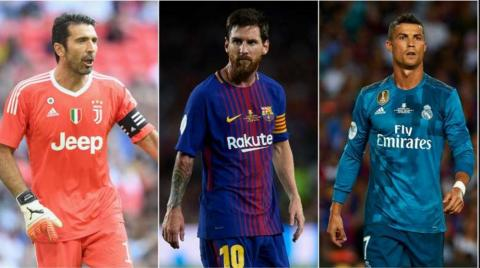 Messi, Ronaldo, Buffon Nominated For UEFA Best Player Award