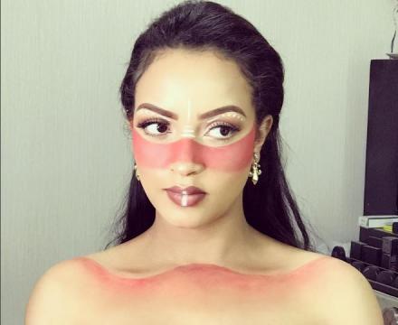 Hanan Tariq's beautiful make up