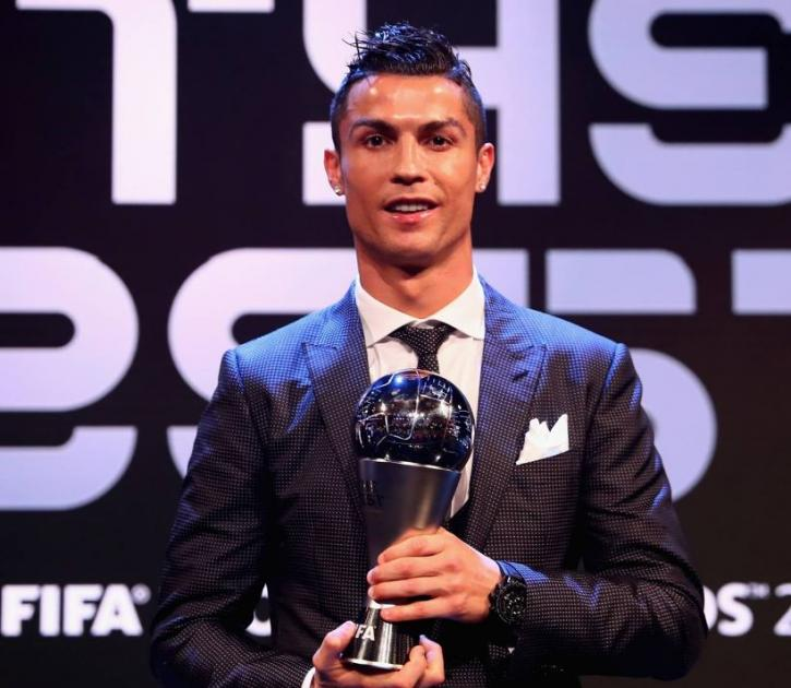 Cristiano Ronaldo picked up football's top individual accolades at The Best FIFA Football Awards in