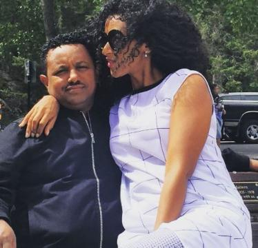 Teddy Afro's and Amleset Muchie's amazing photo