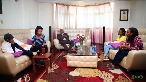 Stressed family scene from Zemen drama